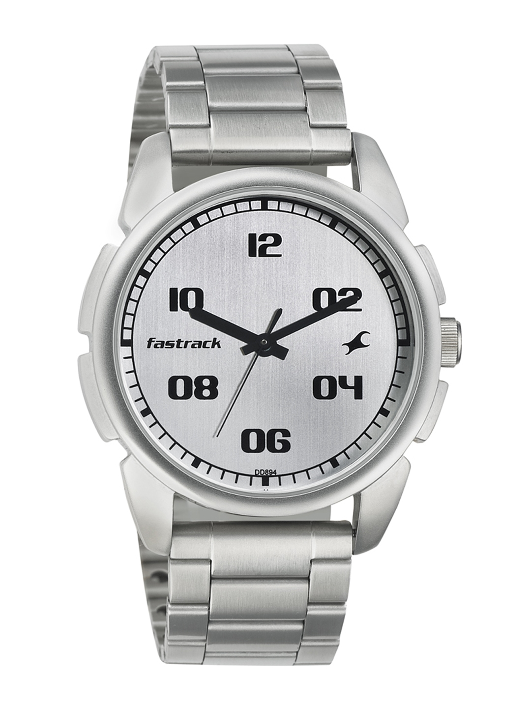 Fastrack Men Silver Toned Dial Watch 3124SM01