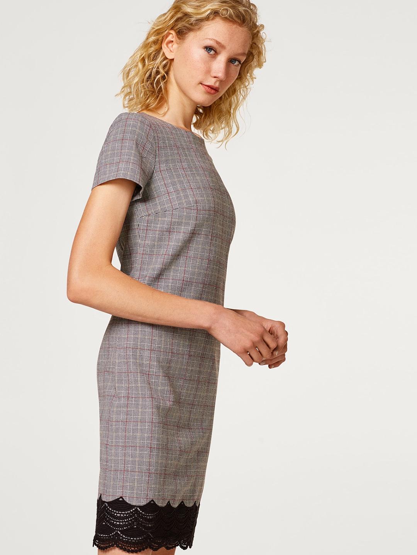 Buy ESPRIT Women Grey Checked Sheath Dress - Dresses for Women ... 12bf85f8e0816