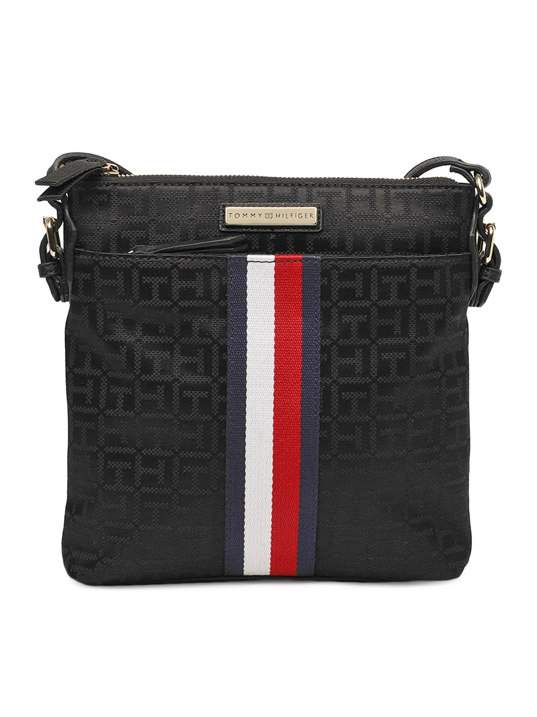 1716e9e3ecd Buy Tommy Hilfiger Black Printed Sling Bag - Handbags for Women ...