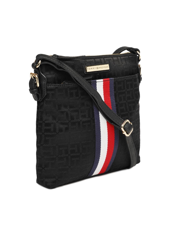 Buy Tommy Hilfiger Black Printed Sling Bag Handbags For Women