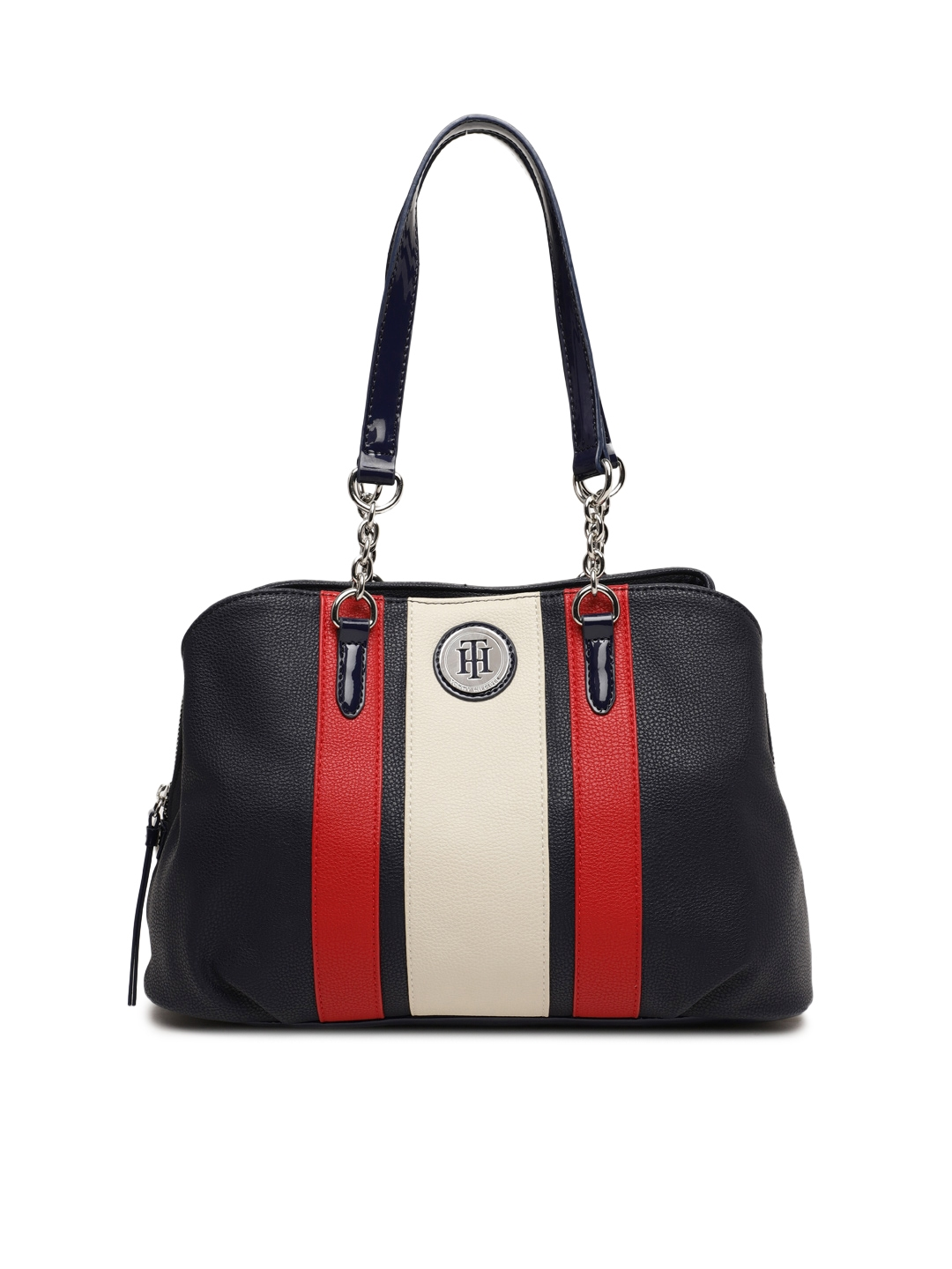 ae117aee7af Buy Tommy Hilfiger Navy Blue Striped Shoulder Bag - Handbags for ...