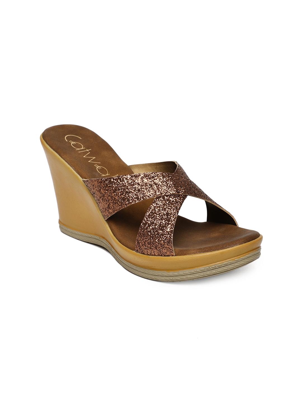 d040e0d13 Buy Catwalk Women Bronze Toned Open Toe Wedges - Heels for Women ...