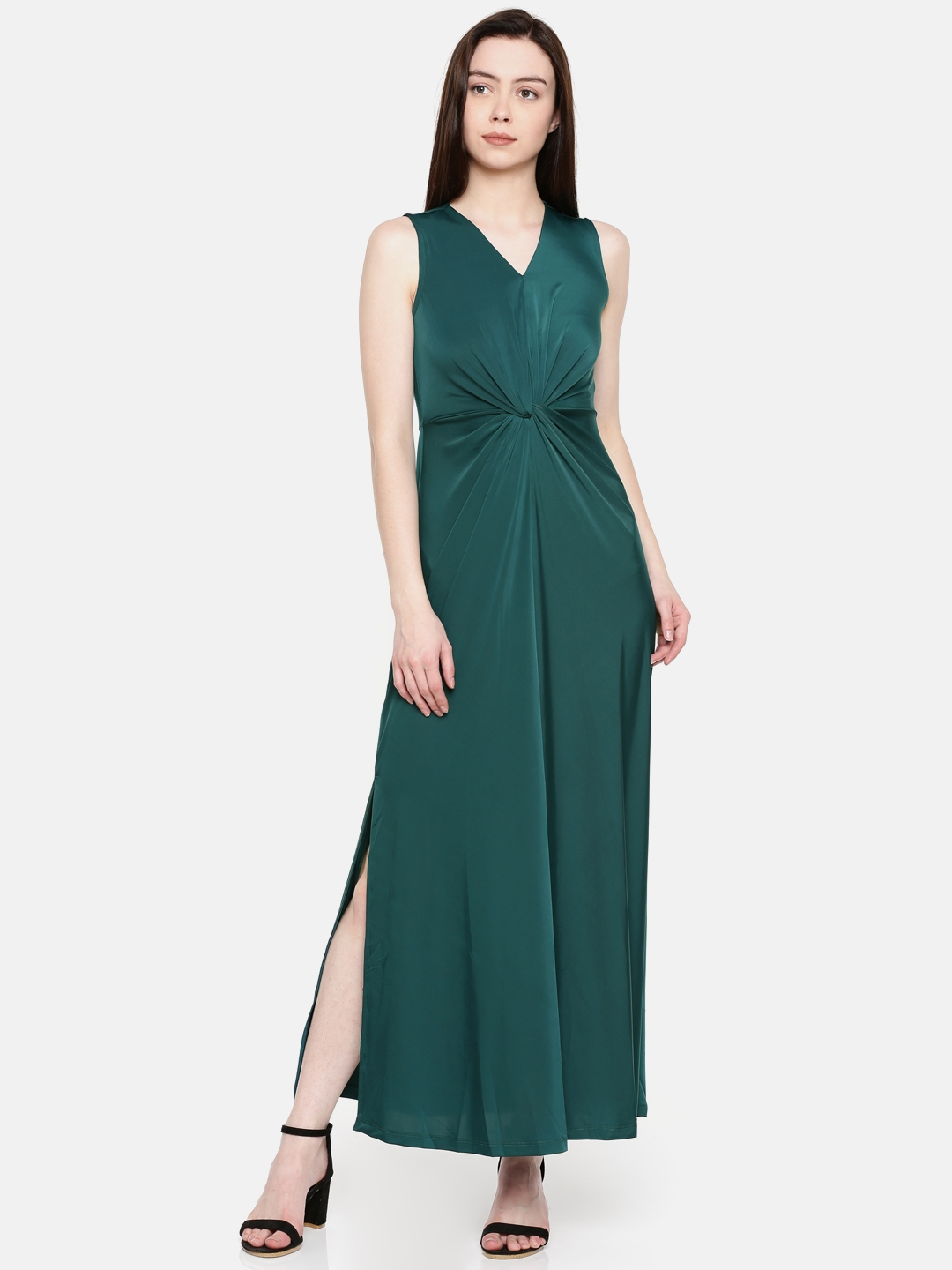 9000edfe5d74 Buy CODE By Lifestyle Women Green Solid Maxi Dress - Dresses for ...