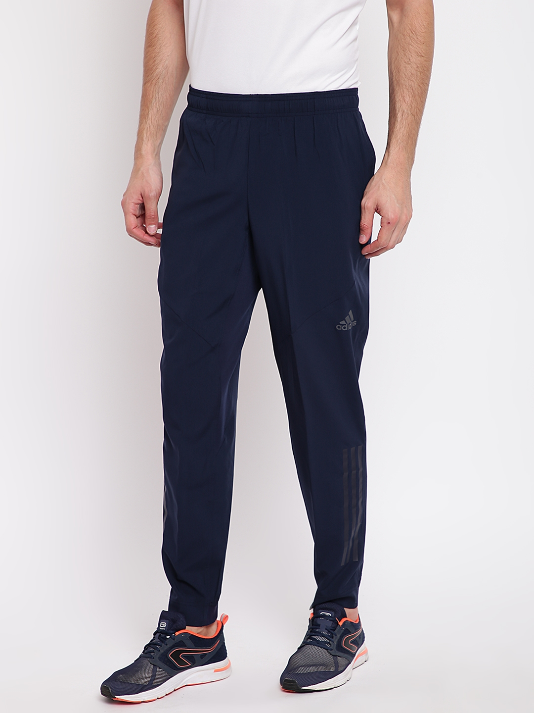 b2a5d0d51d53 Buy ADIDAS Men Navy Blue WO PA Climacool Joggers - Track Pants for ...