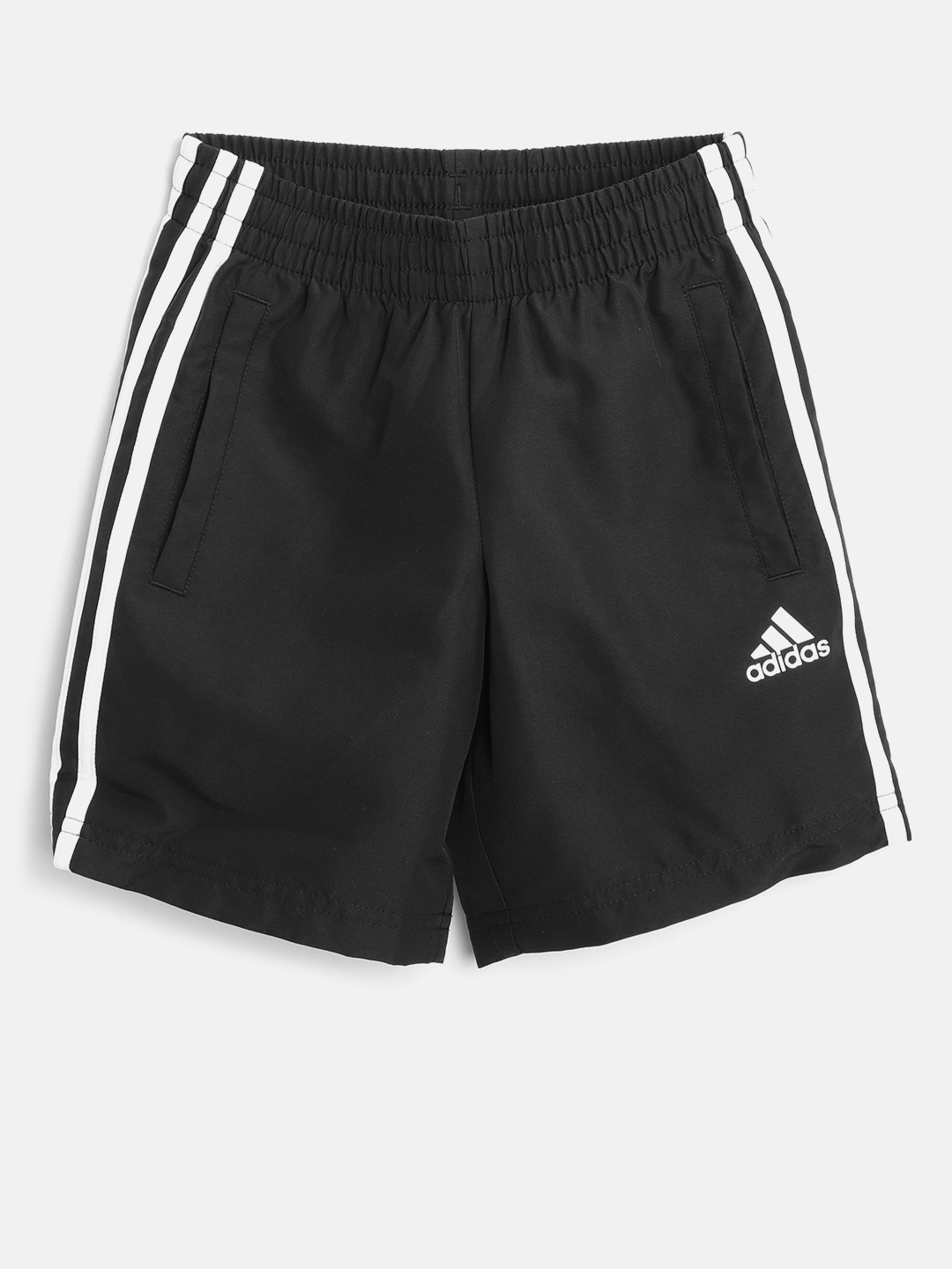 ce05ac44789123 Buy Black Essential 3 Stripes Shorts - Shorts for Boys 7101523