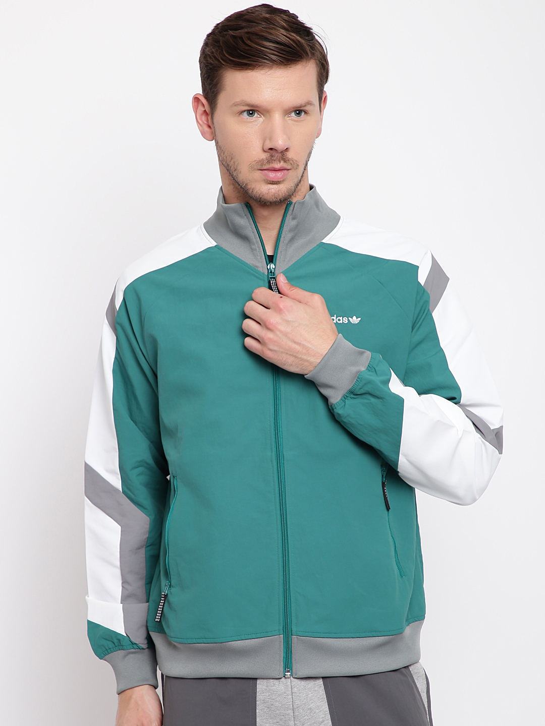 f97122172a59 Buy ADIDAS Originals Men Green EQT Block Windbreak Solid Jacket ...