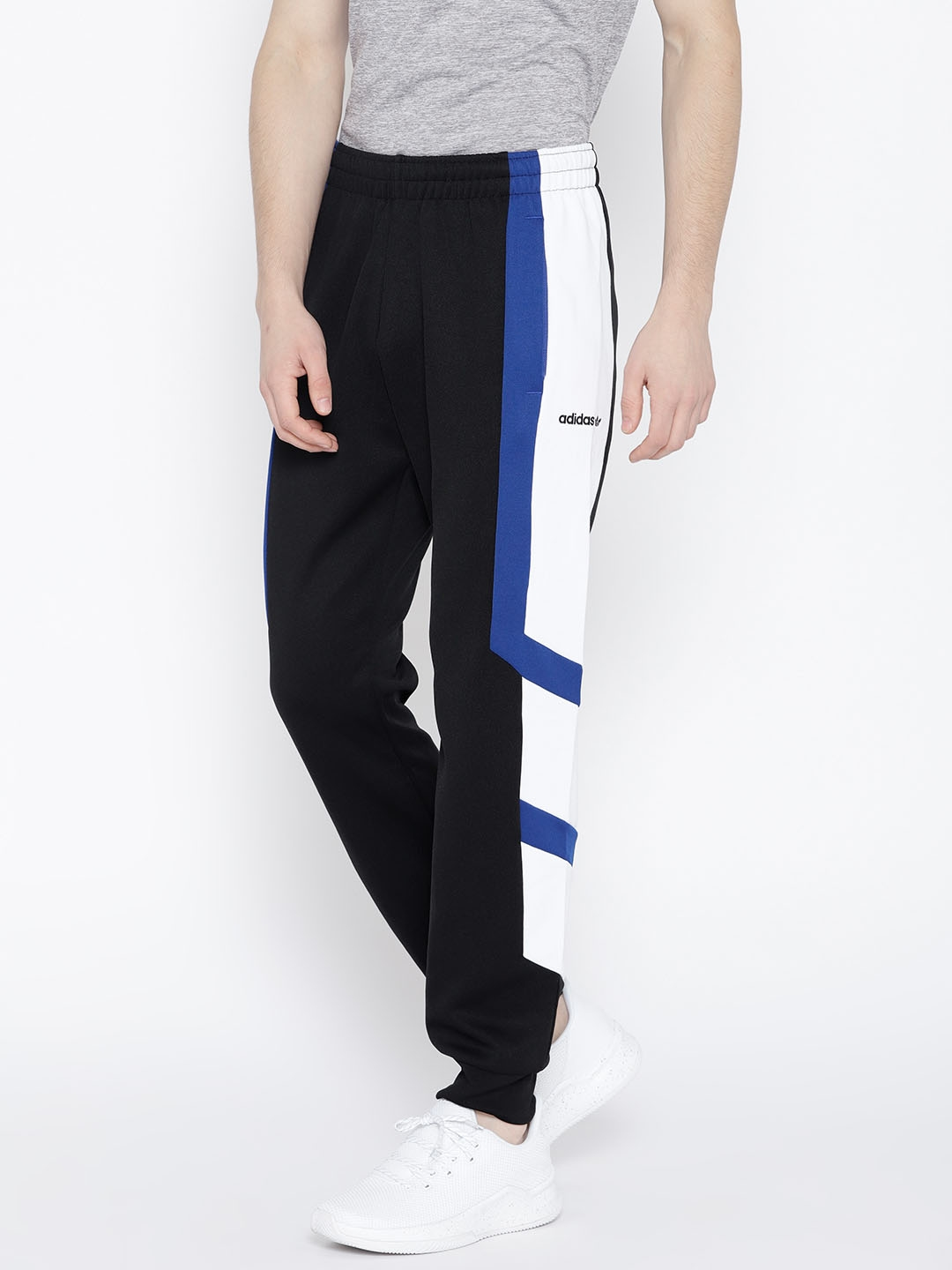 1f40e412f58f Buy ADIDAS Originals Men Black   White EQT Block Joggers - Track ...