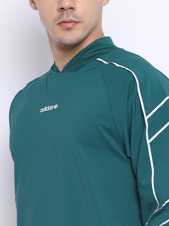85fa7f726a Buy ADIDAS Originals Men Green EQT Goalie Jersey - Tshirts for Men ...