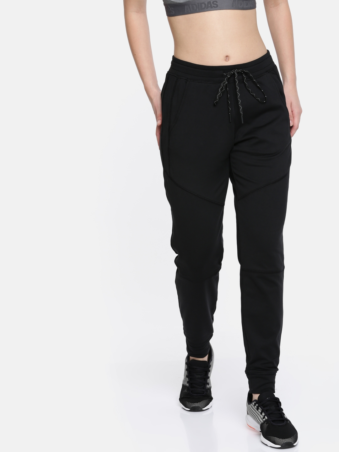 Buy AMERICAN EAGLE OUTFITTERS Women Black Solid Joggers - Track ... f7bfc55737d5