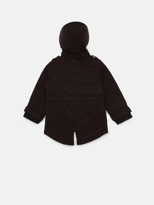 02a45b0e9 Buy Allen Solly Junior Boys Black Solid Jacket - Jackets for Boys ...