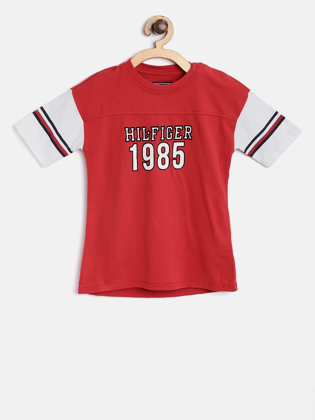 5f9bf5d856026c Buy Tommy Hilfiger Boys Red Printed Round Neck T Shirt - Tshirts for ...