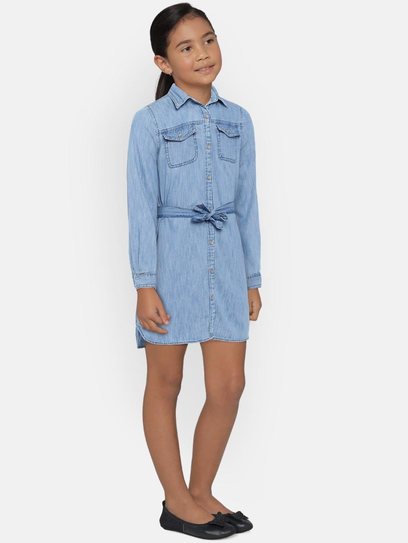 31d403b246 Buy GAP Girls  Blue Denim Tie Belt Dress - Dresses for Girls 7115105 ...