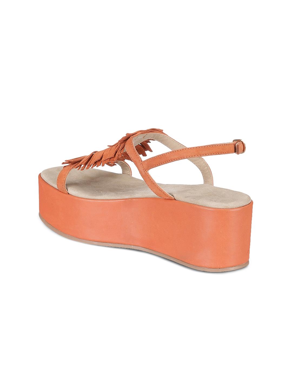 c2524402b38 Buy Saint G Women Orange Leather Solid Platforms - Heels for Women ...