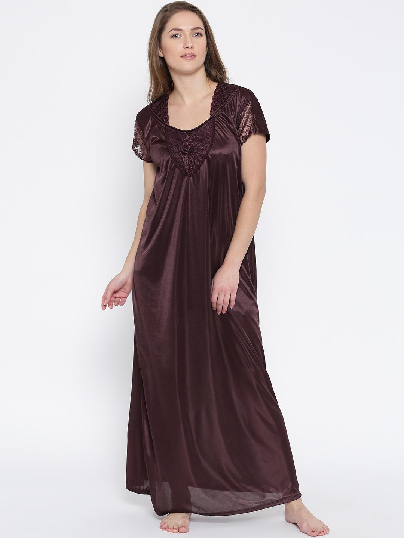 buy klamotten burgundy satin maxi nightdress xx90