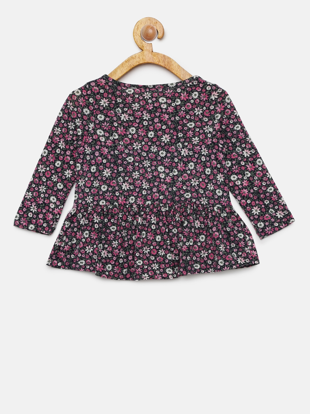58f40042d Buy GAP Girls  Navy Blue   Pink Floral Print Tunic Top - Tops for ...