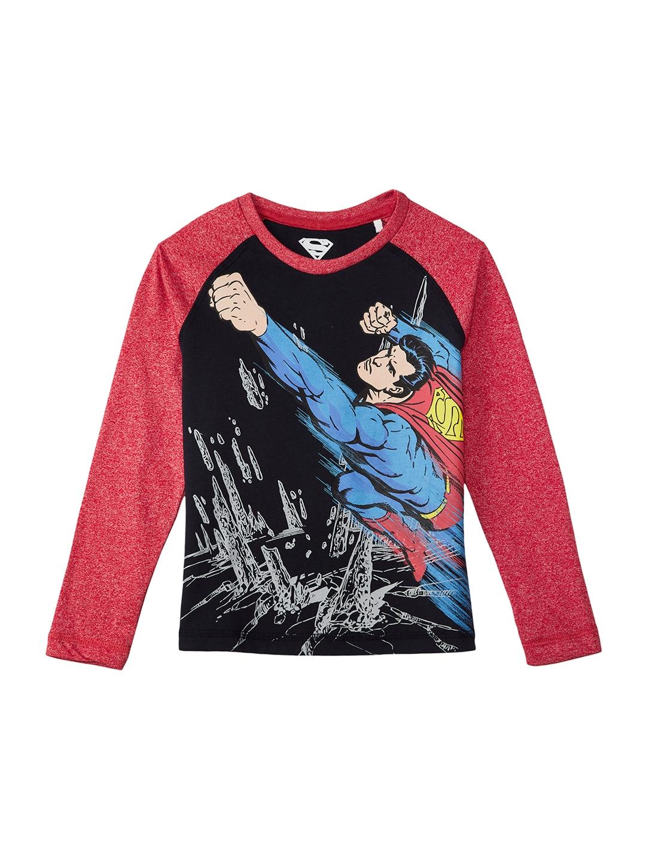 4b91a16f1314 Buy Kids Ville Boys Black Printed Superman T Shirt - Tshirts for ...