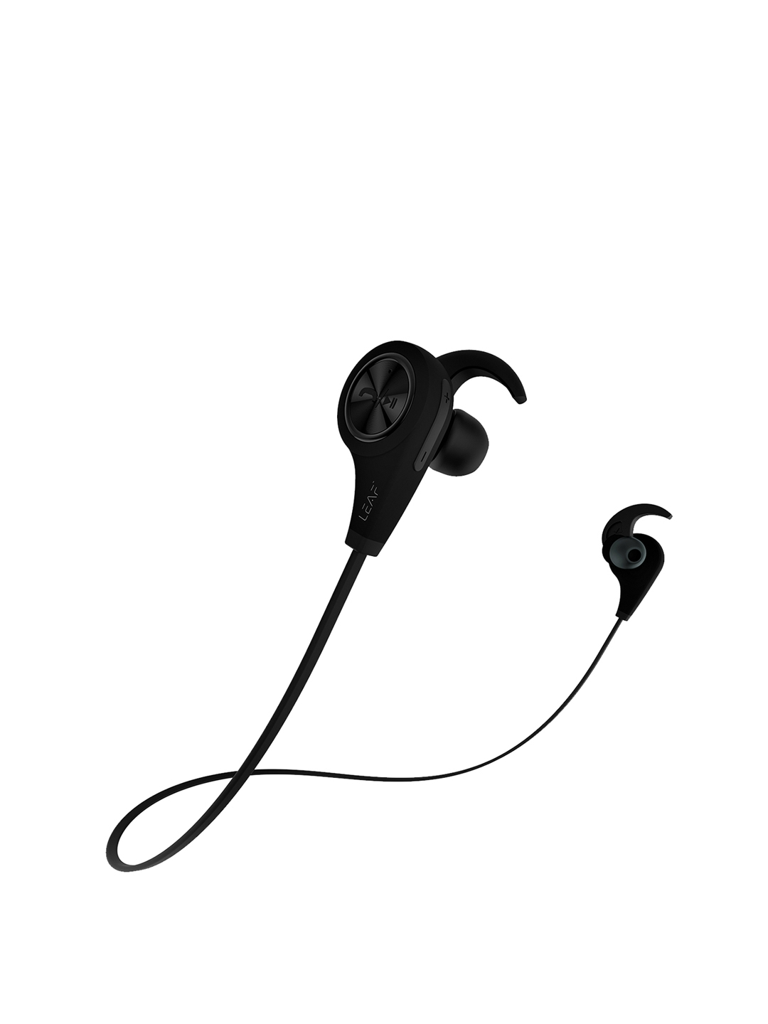 LEAF Ear Unisex Black Wireless Bluetooth Deep Bass Earphones with Mic