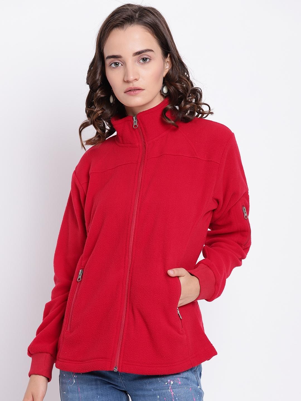 Cayman Women Red Solid Sweatshirt