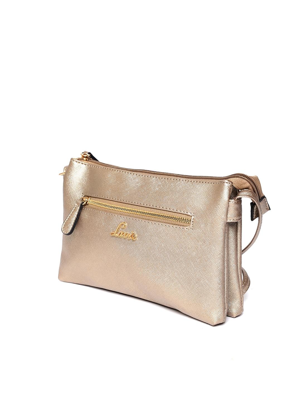 9d645715549 Buy Lavie Gold Toned Solid Sling Bag - Handbags for Women 7130654 ...