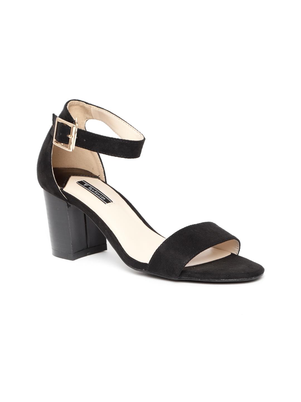 3d97dc6ca4 Buy Van Heusen Women Black Solid Heels - Heels for Women 7133316 ...