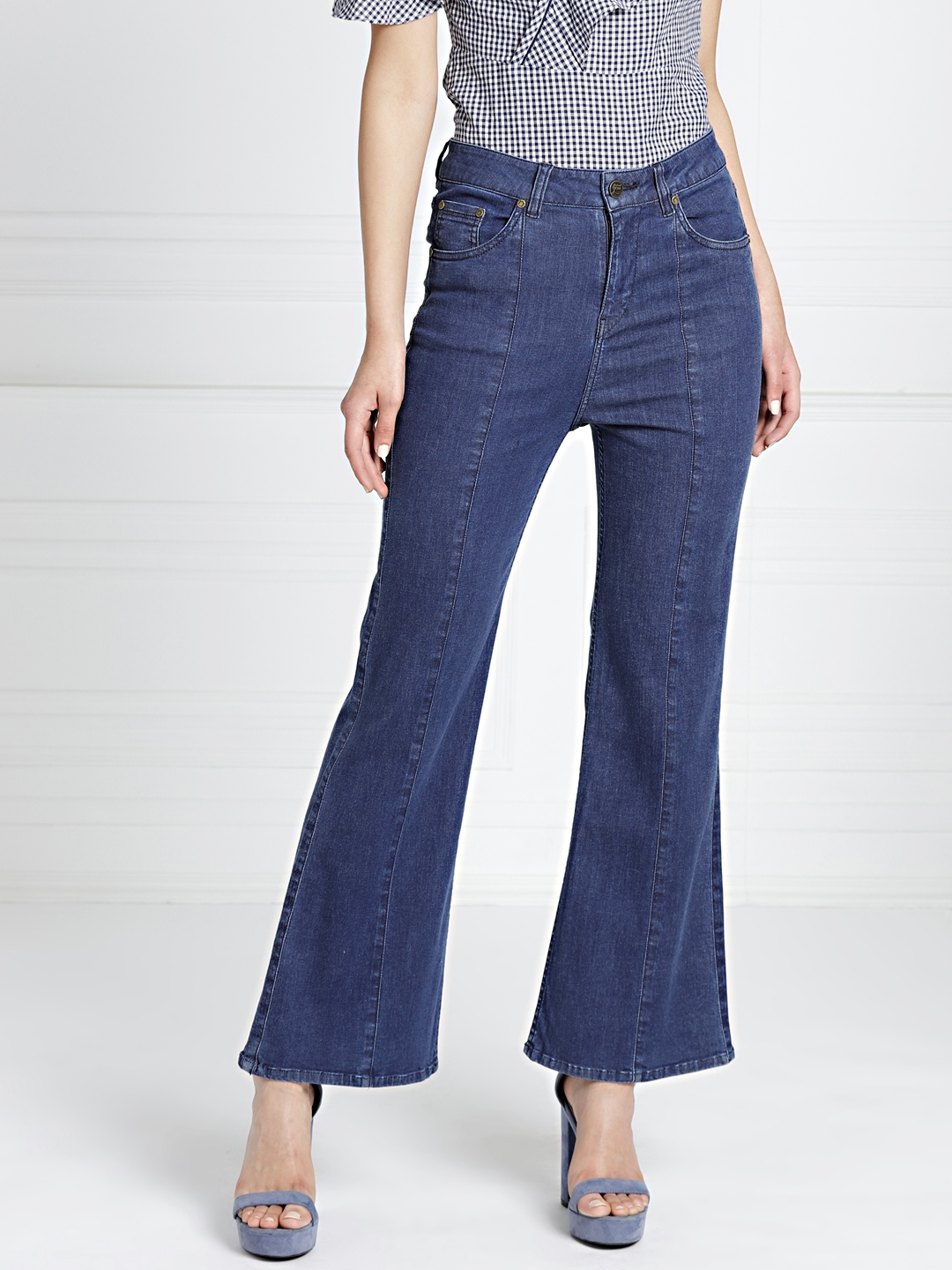6e1c1d229b900 all about you from Deepika Padukone Women Blue Flared Clean Look  Stretchable Jeans