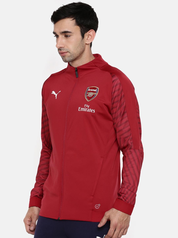 New Mens PUMA Red ARSENAL HOODY sweatshirt TRACKSUIT hoodie TOP size M