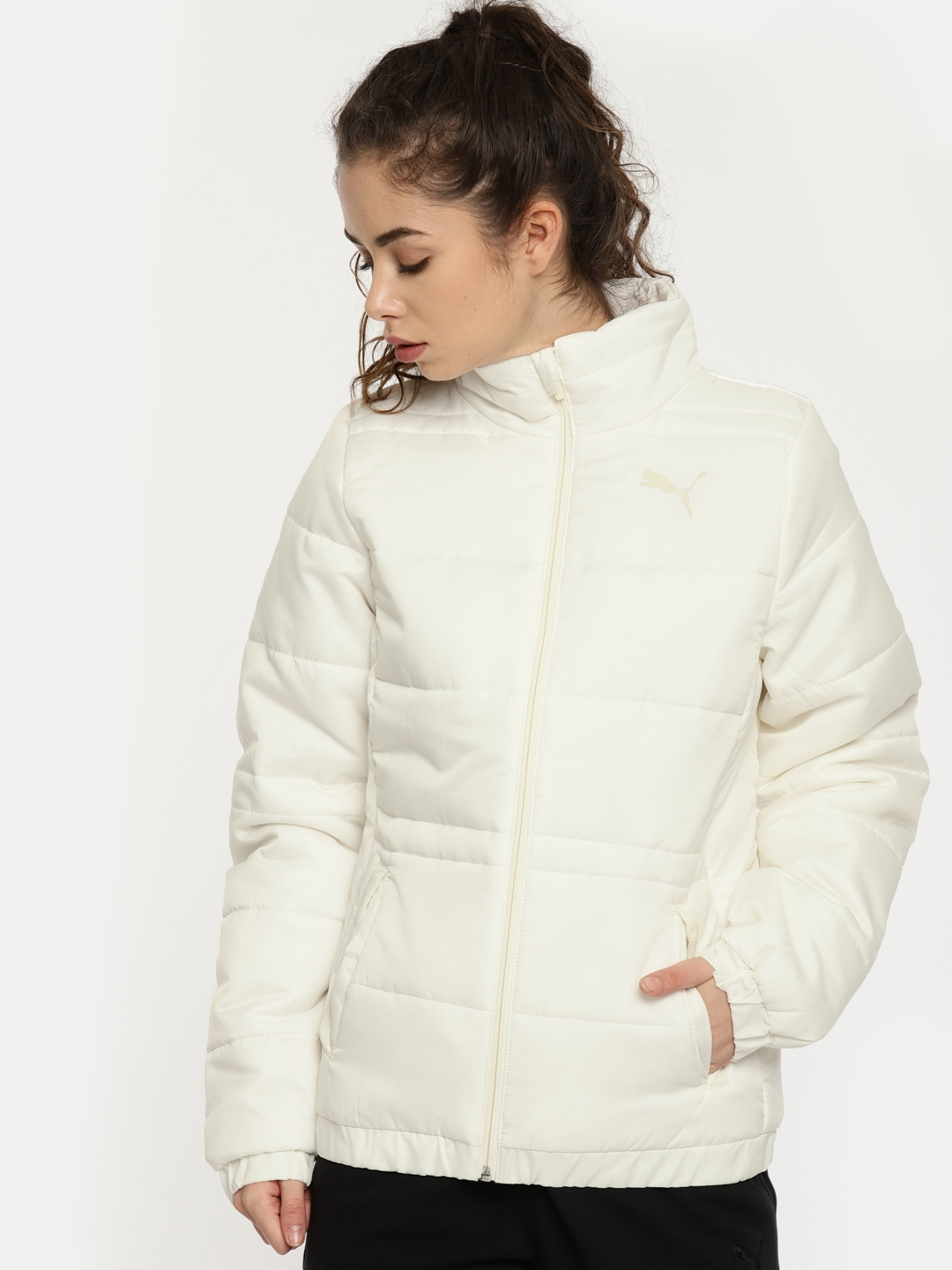 676acfb0efe2 Buy Puma Women Off White ESS Padded Puffer Jacket - Jackets for ...