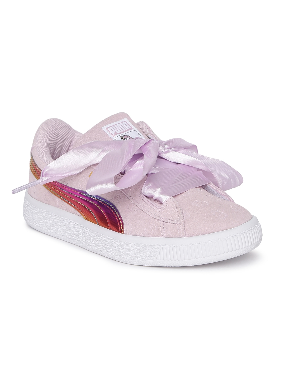 Buy Puma Girls Pink Minions Suede Heart Fluffy PS Sneakers - Casual ... 3a0665dcd