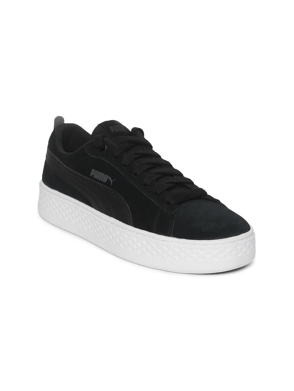 60a1ec879161 Buy Puma Women Black Smash Platform SD Suede Sneakers - Casual Shoes ...