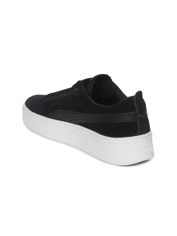 8312c440a9b Buy Puma Women Black Smash Platform SD Suede Sneakers - Casual Shoes ...