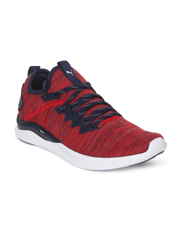 reputable site 03bd0 985a6 Puma Kids Red Textured IGNITE Flash evoKNIT Junior Sneakers