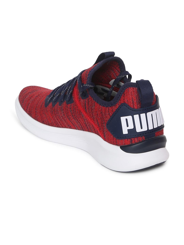 c0d47760d1f9 Buy Puma Kids Red Textured IGNITE Flash EvoKNIT Junior Sneakers ...