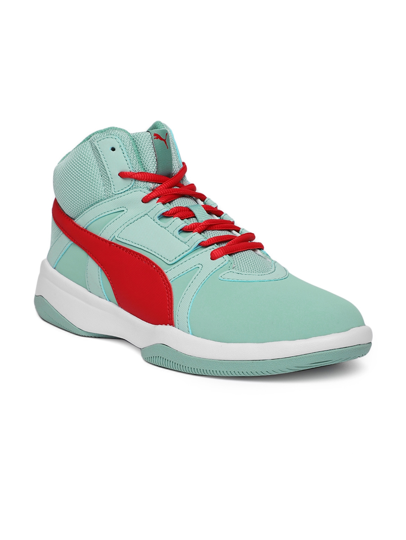 Buy Puma Men Green \u0026 Red Rebound Street