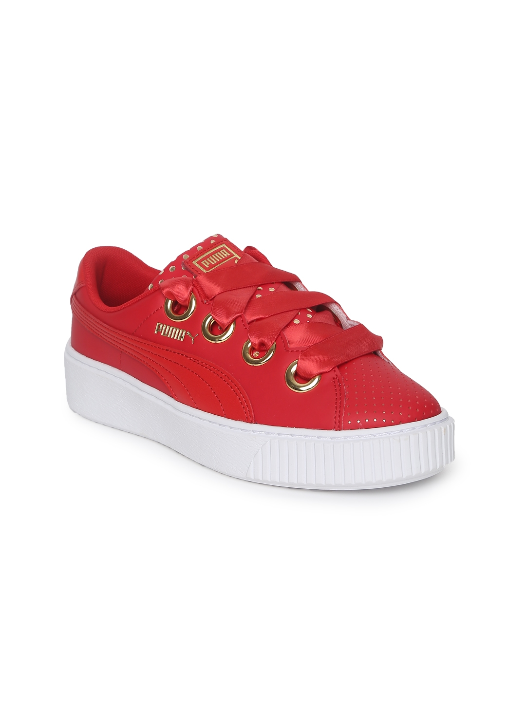 d82b888dcbf1 Buy Puma Women Red Platform Kiss Ath Lux Sneakers - Casual Shoes for ...