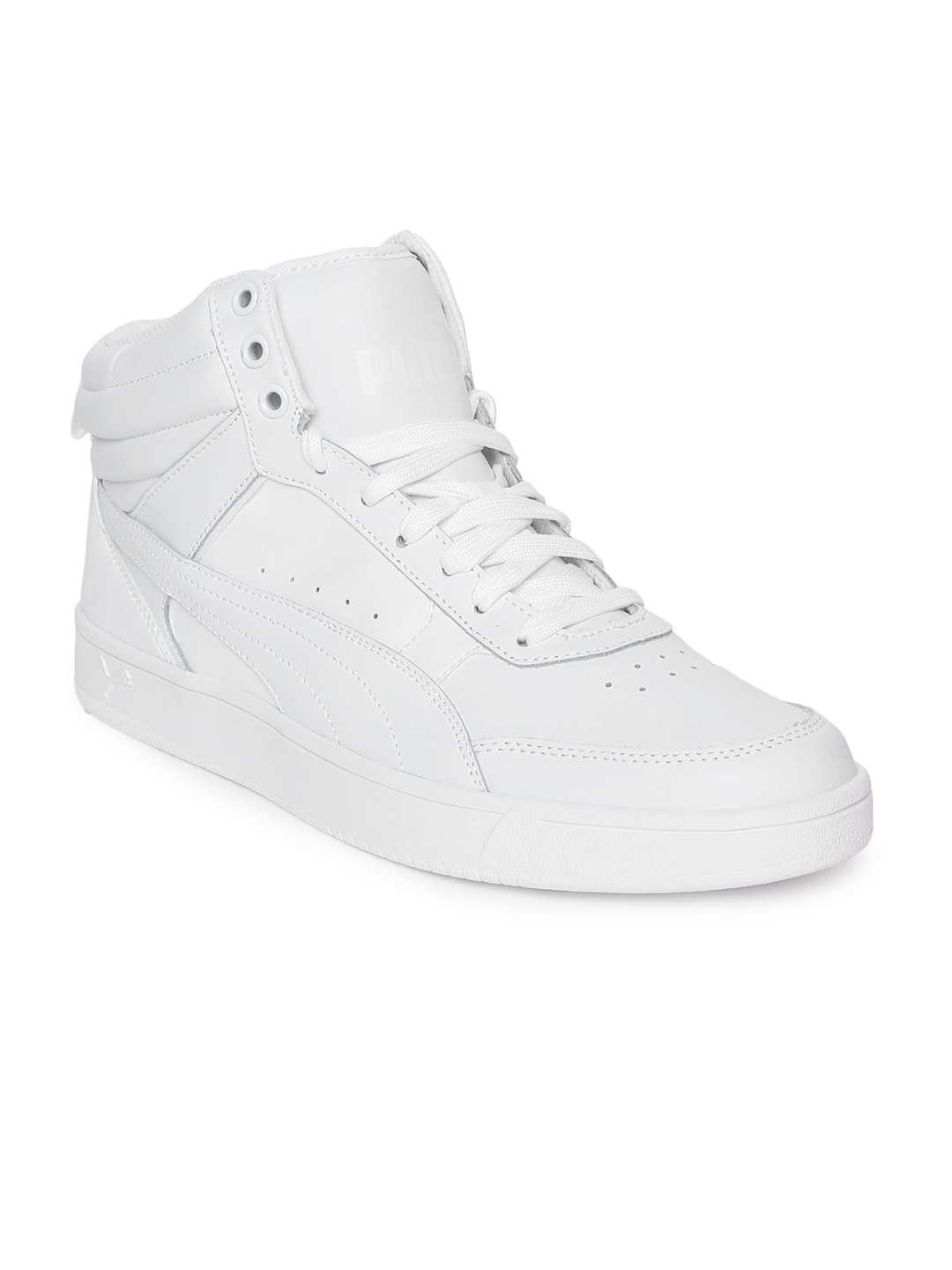 fd7d6110a37 Buy Puma Men White Rebound Street V2 L Mid Top Leather Sneakers ...