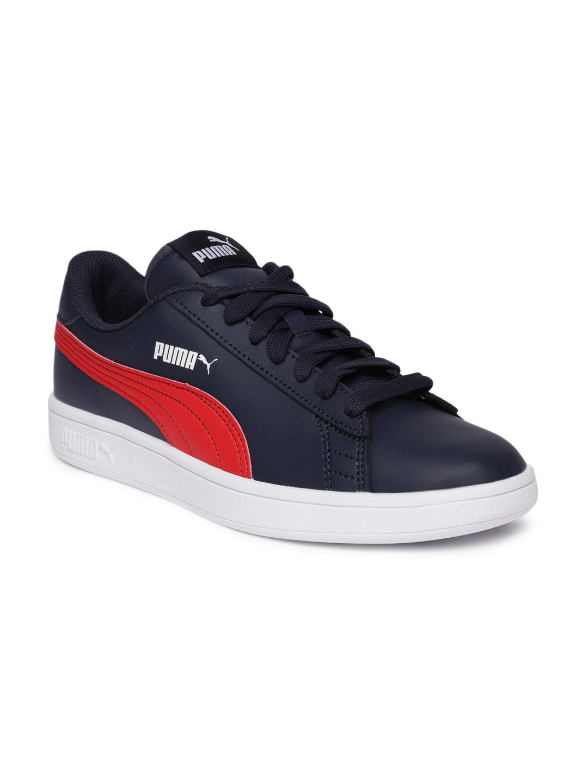 128f427b1497f3 Buy Puma Unisex Navy Blue Smash V2 L Jr Sneakers - Casual Shoes for ...
