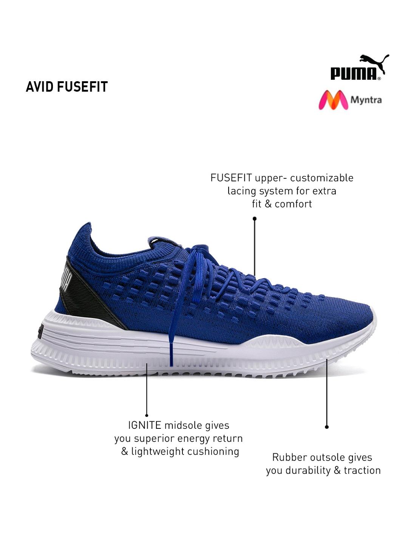 fc1f8c883d5c63 Buy Puma Men Blue AVID Fusefit Sneakers - Casual Shoes for Men ...