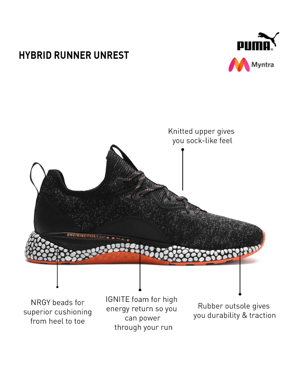 c3f79b5863bc Buy Puma Unisex Black Hybrid Runner Unrest Running Shoes - Sports ...