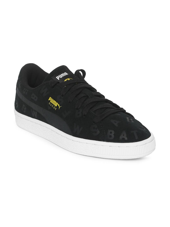9c9f6540a578 Buy Puma Kids Black Printed JL Suede AOP Junior Sneakers - Casual ...