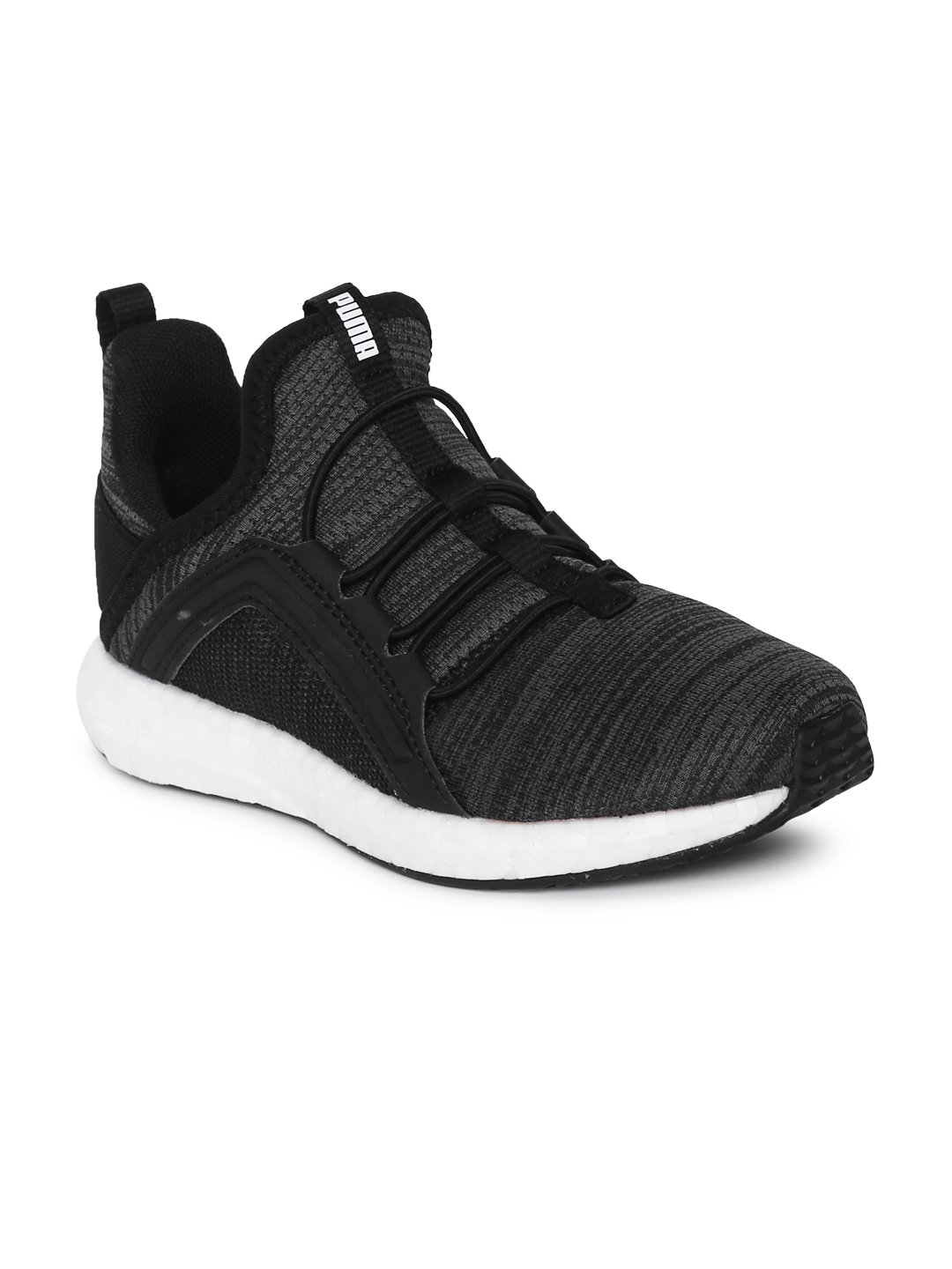3ef3d0f5602 Puma Kids Grey   Black Textured Mega NRGY Heather Knit AC PS Training Shoes