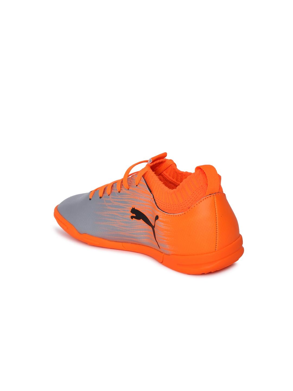 8168fe6bc Buy Puma Boys Orange   Silver Toned EvoKNIT FTB II IT Jr Football ...