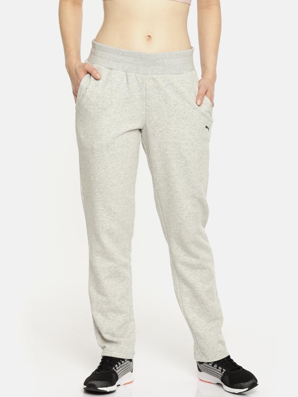 c55a671f42da Buy Puma Women Grey ESS Open TR Track Pants - Track Pants for Women ...