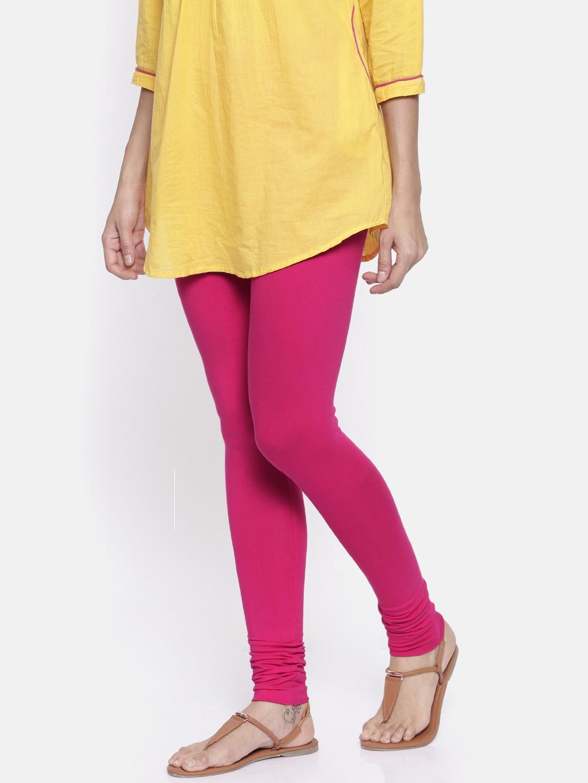 2667888dcd998 Buy Bitz Women Pink Solid Churidar Leggings - Leggings for Women ...