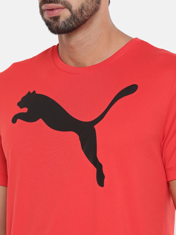 c39cea81d9d7 Buy Puma Men Red Printed DryCELL ESS Active Big Logo T Shirt ...
