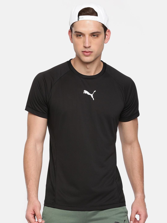 c9cad6c95a Puma Men Black Solid Tec Sports T-Shirt