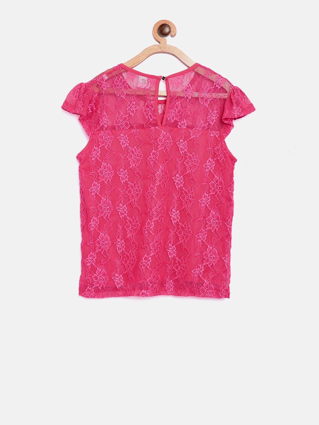 6d43fcc7d1ee57 Buy 612 League Girls Pink Lace Top - Tops for Girls 7156229