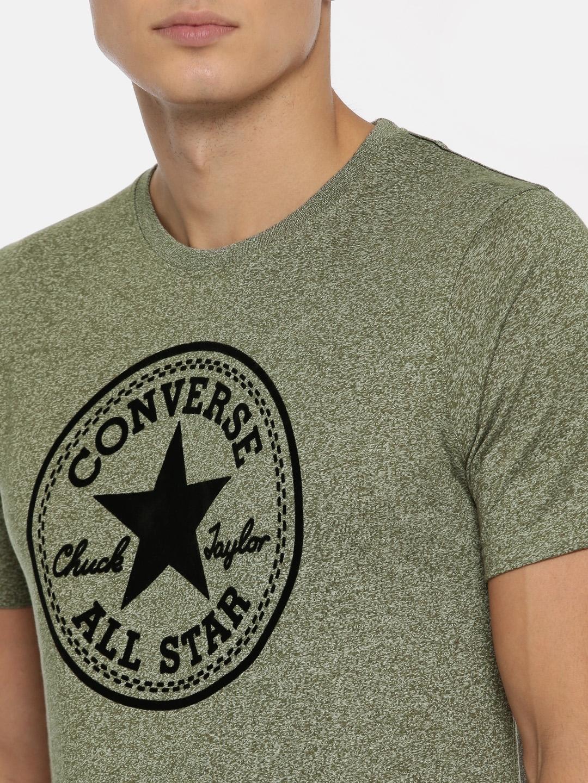 df040dcb5910 Buy Converse Men Green Printed Round Neck T Shirt - Tshirts for Men ...