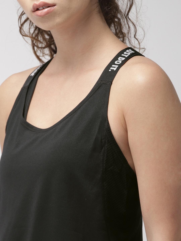 f77447353397 Buy Nike Black AS W NK DRY TANK ELASTKA Top - Tops for Women 7163548 ...