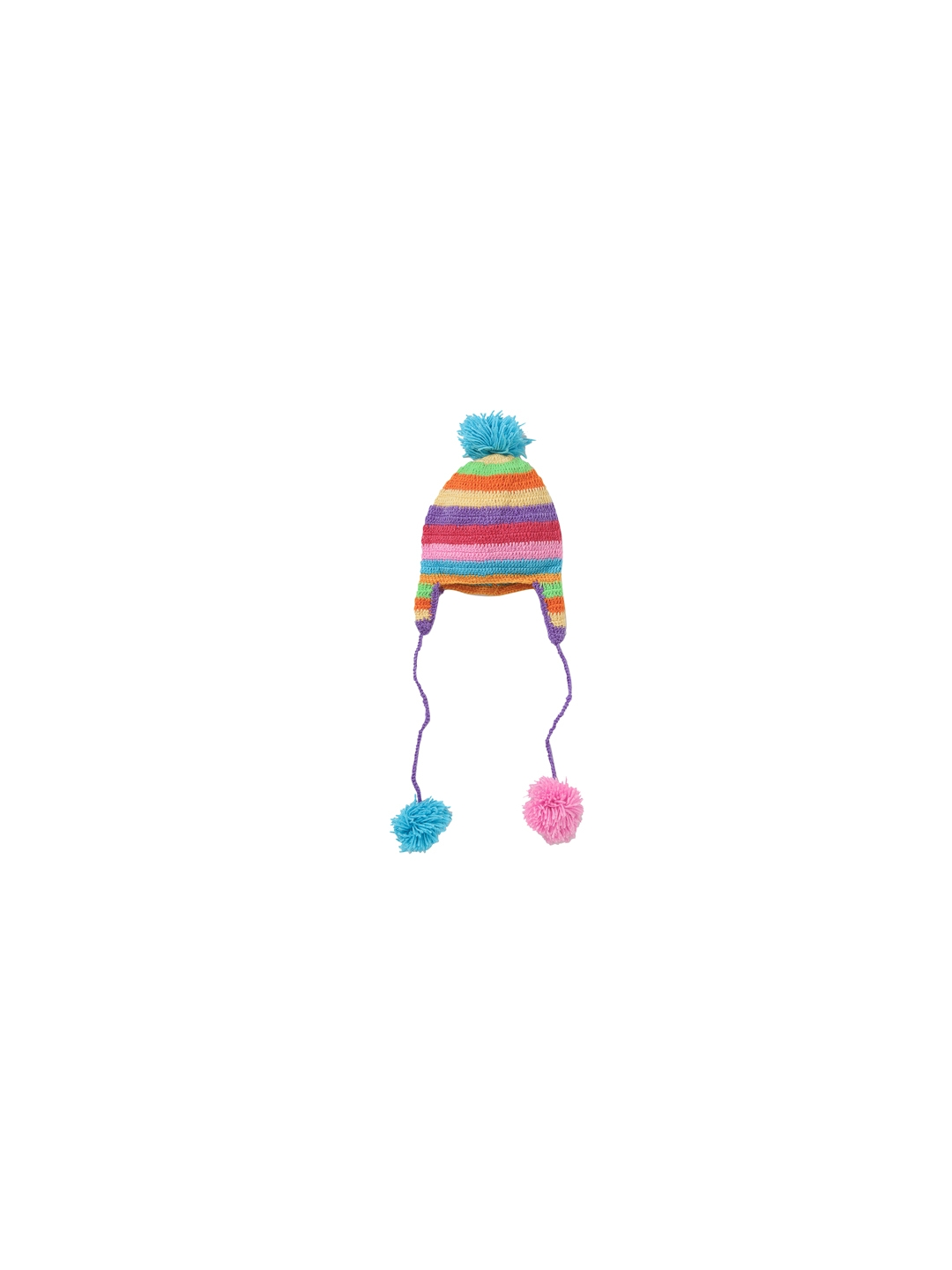 e8a6c5ea665 Buy CHUTPUT Kids Multi Coloured Self Design Woolen Chullo Hat - Hat ...