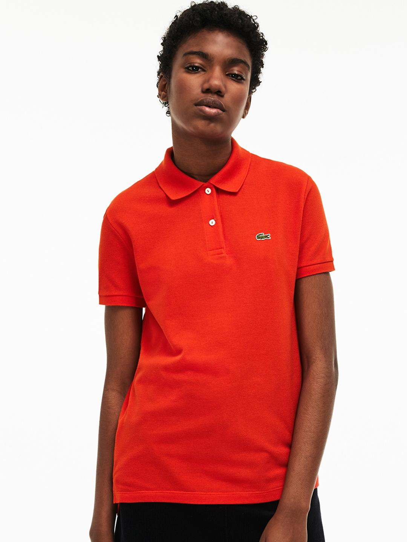 3a923dea36ff9 Buy Lacoste Women Red Classic Fit Soft Cotton Petit Pique Polo ...